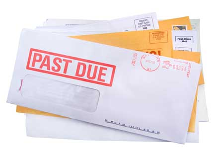 Past Due Notice on Bills